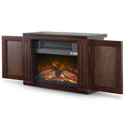 portable freestanding tabletop space heater flame effect