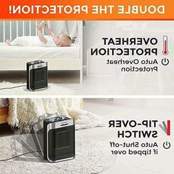 Portable Heater 750W/1500W Ceramic Space Heater with Adjusta
