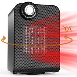 Portable Indoor Space Heater Electric Personal Use Auto Cera
