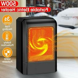 500W Portable Ceramic Space Heater Electric Heater with Adju