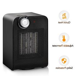 Portable Ceramic Space Heater, 1500W Fast Heating with Oscil