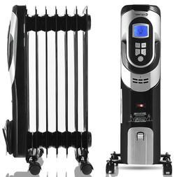Radiator Heater Electric Energy Efficient Space Heater Black