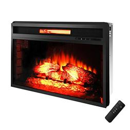 "ROVSUN 26"" Recessed Electric Fireplace Insert W/Remote Contr"