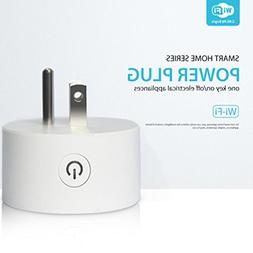 LiPing 2Pcs Smart WiFi Plug Outlet Swtich Work With Echo Ale