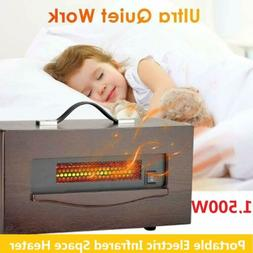 Soleil Quartz Infrared Electric Space Heater Led Digital Dis