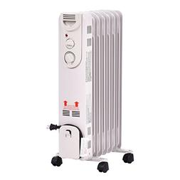 Honesty 1500W Electric Oil Filled Radiator Space Heater 5-Fi