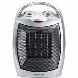 Brightown Space Heater 750W/1500W ETL Listed Quiet Ceramic H