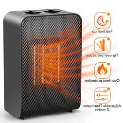 Space Heater - Electric Ceramic Heater Portable 1500W/750W,