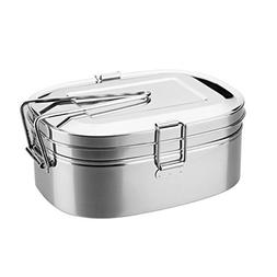 Stainless Steel Bento Lunch Box Food Container Food Box Port