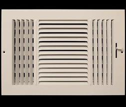 "10"" x 8"" 3-WAY SUPPLY GRILLE - DUCT COVER & DIFUSER - Flat S"