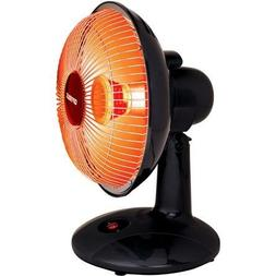 "Thermal Cut-off Function 9"" Electric Dish Heater, Black"