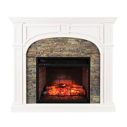 Southern Enterprises Timothy Infrared Electric Fireplace, Wh
