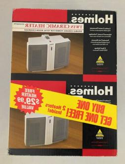 TWO Holme HCH4166 Twin Ceramic Electric Space Heater Comfort