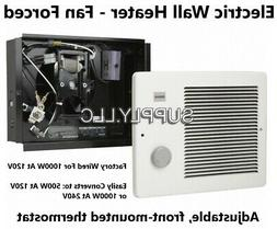 Wall Mount Electric Fan Space Heater with Thermostat 1000W a