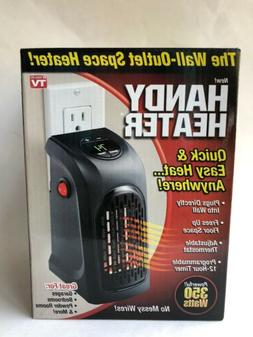 Handy Heater Wall-Outlet Space Heater 350 Watts With Timer A