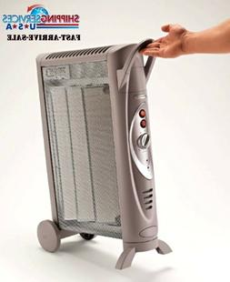 Wheeled Electric Heater Fan Tower Space Micathermic Console
